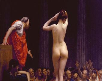 Jean Leon Gerome: Selling Slaves in Rome. Fine Art Print/Poster (00911)