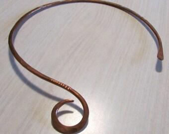 Small Copper Neck Ring