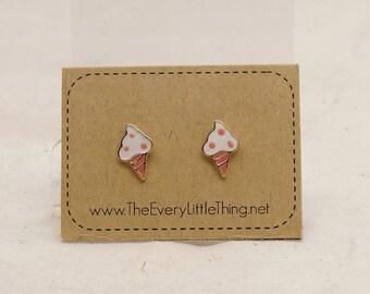 Ice Cream Earrings (non-allergic stainless steel stud)