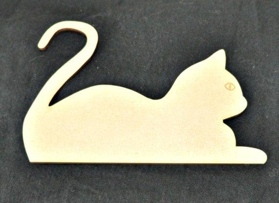 Kitten Cat Wood Cutout Laser Cut Animal Shapes DIY