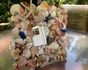 Sea shell wall mirror