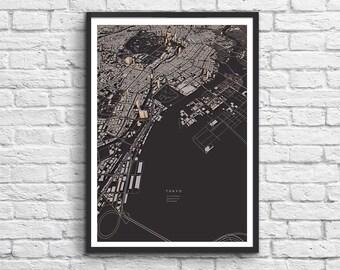 Art-Poster 50 x 70 cm - Tokyo 3D Map