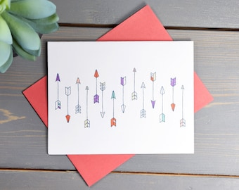 Arrow Card (DIGITAL DOWNLOAD), Blank Card, Multi Purpose Card, Just Because, Masculine Card, Cards for Men, illustrated card