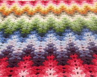 Tall Ripple Stitch Crochet Pattern