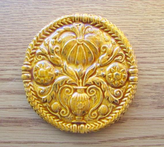 Decorative Ceramic Tile -- ButterMold Art Tile in Wild Honey glaze