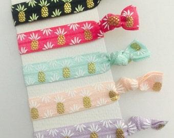 Individual pineapple hair ties