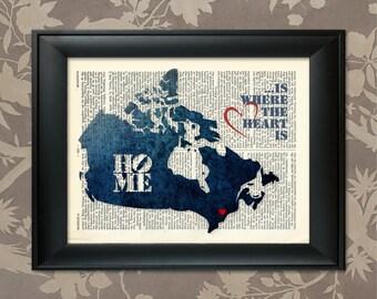 Canada Art Print, Canada Print, Canada Map Art, Canada Wall Art, Canada Pride, Canada Map Print, Canada Map, Canada Decor, Map of Canada
