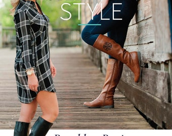 Monogram Boots in Black and Brown