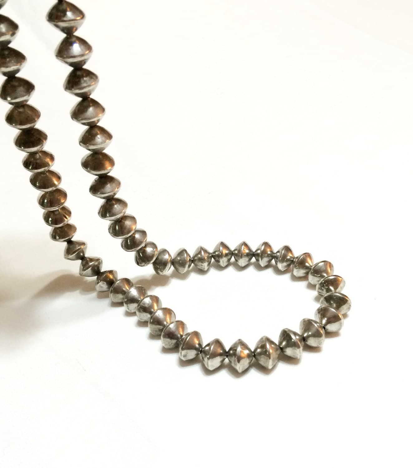 navajo sterling silver pearl necklace sterling silver beaded