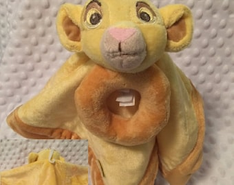Disney SIMBA Lovey Blanky Security Blanket Crib toy The Lion King Lovey - Personalized