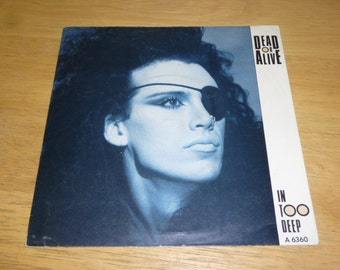 Dead Or Alive RECORD SLEEVE in too deep 1985 uk pressing