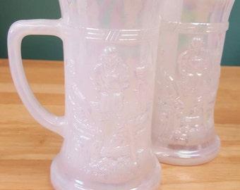 Federal Carnival Glass Mugs