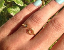 20% off- SALE!! Gold Star of David Ring - Gold Ring - Simple Everyday Jewelry - Tiny ring - Adjustable Ring - Minimalist Jewelry
