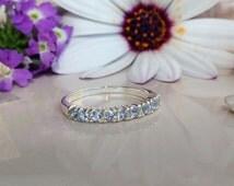 20% off- SALE!! Aquamarine Ring - Tiny Ring - Stacking Ring - Gemstone Ring - Simple Ring - Slim Ring - Sea Foam Ring - March Birthstone