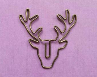 Deer antlers paperclip