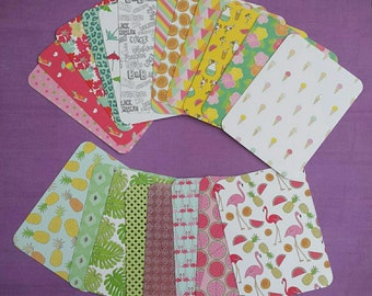 "Set of 20 ""Tropical"" journaling cards (handmade Project Life cards)"