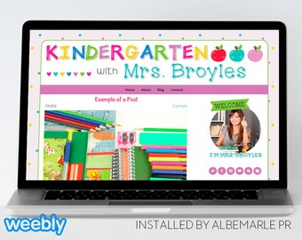 Premade Weebly Template Teacher Blog Classroom Lessons - Mrs. Broyles