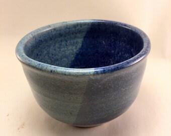 Blue on Blue Tea Bowl