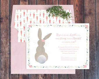 First Birthday Bunny Invitation