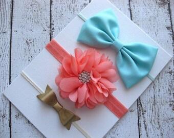 Baby Bow Headband - Baby Hair Bands - Infant Headbands - Mini Bow Headband - Faux Leather Bow - Fabric Bow Headband - Headbands for Babies