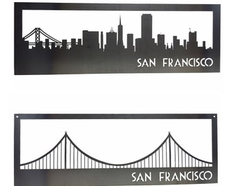 San Francisco SF Golden Gate Bridge Steel Signs