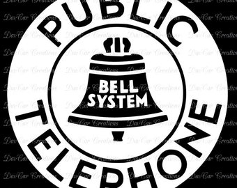 Vintage Style Public Telephone Sign SVG Cut File - SVG and PNG formats - Silhouette Studio Cricut