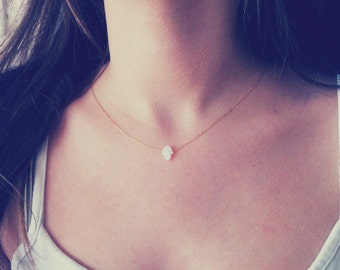 Tiny Hamsa Necklace, Opal Necklace, Small Hamsa Necklace, Love Hamsa Necklace, Dainty Hamsa,Minimalist Necklace,Opal Jewellery,Luck Necklace