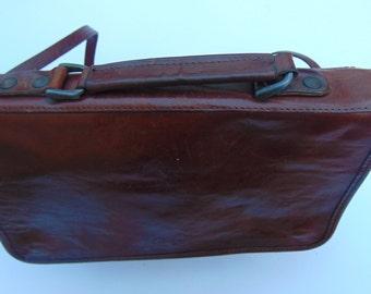 beautiful leather shoulder bag