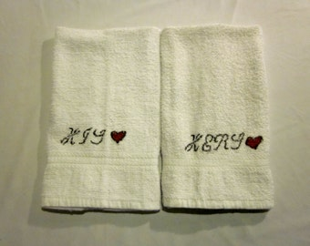 His & Hers Hand Towels/Wash/Face Clothes/ONLY 1 AVAILABLE