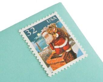 25 Santa & Children Postage Stamps - 32c - 1995 - Unused - Quantity of 25