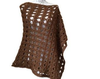Hand Crochet Angled Poncho