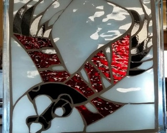 Eastern Washington University (EWU) Eagles Lighted Glass Mosaic Block