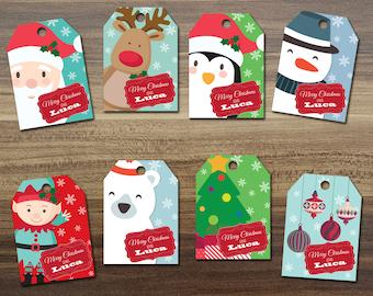 Christmas Tags / DIY Christmas Tag / Printable Christmas Tag
