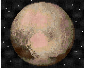 PDF Cross Stitch pattern - 0057.Pluto planet - INSTANT DOWNLOAD
