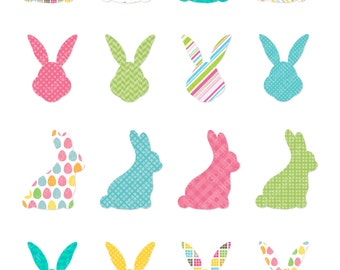 Easter Bunny Silhouette clipart, Easter Bunny Clipart, Bunny Clip Art, Easter Clipart, Animal Art, Easter Rabbit Clip art, Easter Silhouette