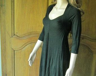 Dress black viscose Show boobies