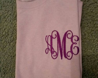 Youth Initial tshirts, Personalized Youth tshirts