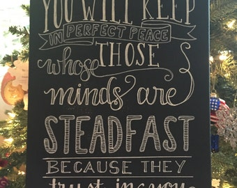 Perfect Peace - Canvas Chalkboard Sign
