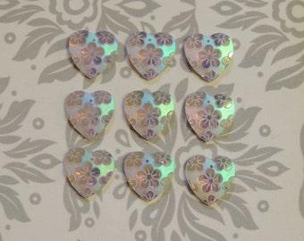 20x20mm AB Heart shape sew-on gems