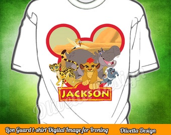 The Lion Guard Iron On Transfer Shirt -The Lion Guard DIY Iron On Transfer - Lion Shirt - Lion Birthday Printable - The Lion Guard Clothing