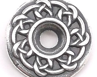 "Celtic Bezel Concho in Antique Silver 3/4"" 7785-02"