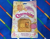 Vintage 1983 Charmkins BLOSSOM miniature doll 1980s Hasbro pocket clip charm toy MoC mint rare Factory Sealed sweet violet scented new CUTE