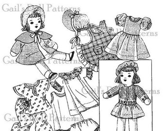 """A Copy of Vintage 1930's #740 Mail Order 12"""" Cloth Doll."""