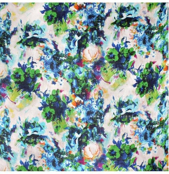 blue green silk chiffon seide stoff kaufen from. Black Bedroom Furniture Sets. Home Design Ideas