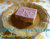 Whimsical Sunshine Yuzu Soap VETERAN OWNED Cold Process soap Handmade Soap Made with LOVE Baby your skin with nourishing oils