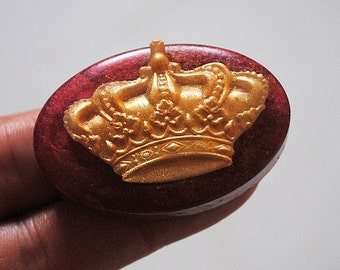 ROYAL CROWN SOAP silicone mold mould qust soap bar  plaster clay wax resin