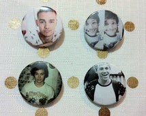 One Direction hand made Drag Me Down 32mm button pins 4 pack