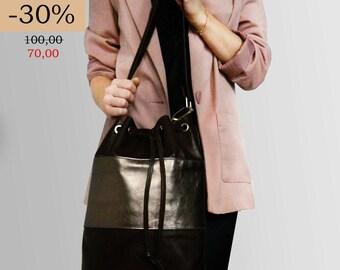 SALE - 30% real leather shoulder bag