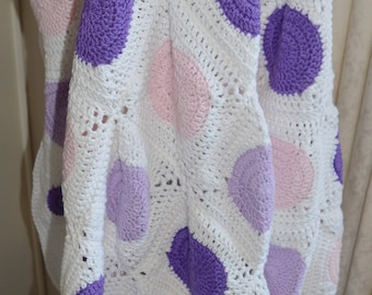 Handmade Crochet Blanket - Throw - Wrap