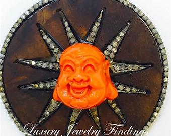 Buddha Jewelry, Wood and Diamond  Buddha Pendant, Buddha in Handmade, Buddha Necklace, Buddha, Yoga, Meditation, Buddha for Good Luck